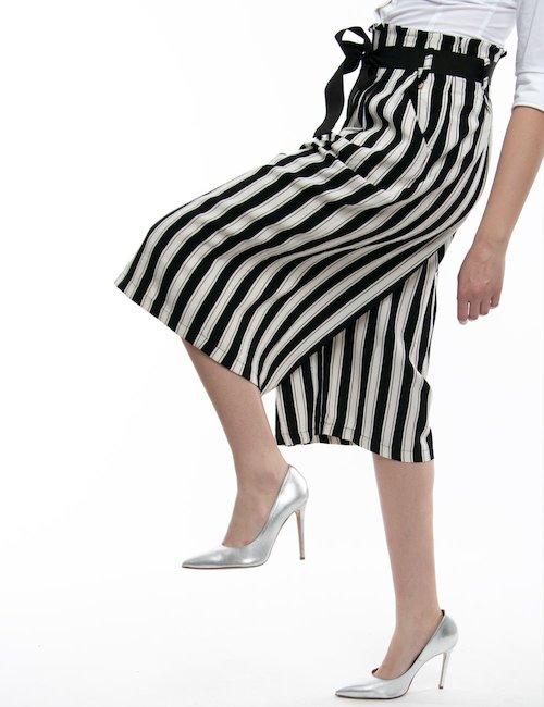 Pantalone a tre quarti Fracomina - A Righe