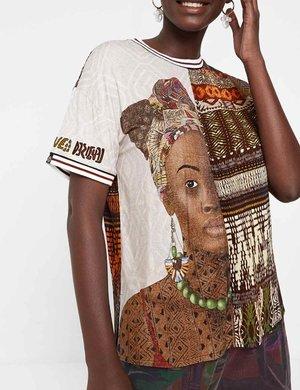 T-shirt Desigual con stampa etnica