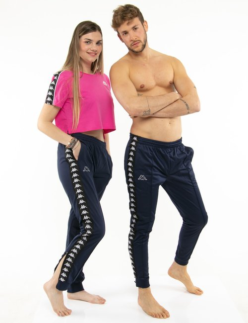 Pantalone Kappa con zip a lato - Blu
