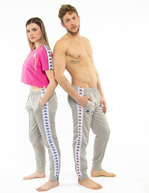 Pantalone Kappa con zip a lato - Grigio