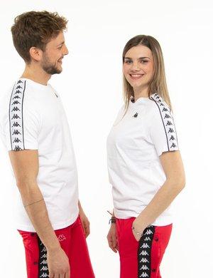T-shirt Kappa con bande laterali e logo a lato