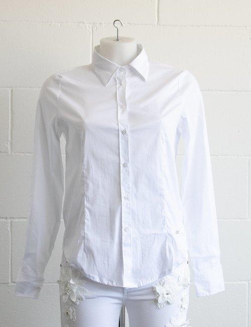 Camicia Yes Zee a maniche lunghe - Bianco