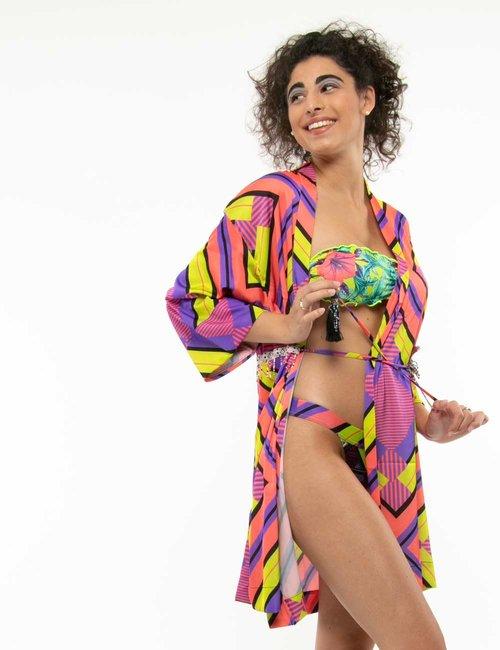 Vestito F**k stile kimono - Fantasia