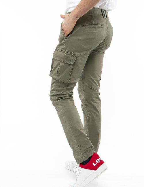 Pantalone fred Mello con tasconi laterali - Verde