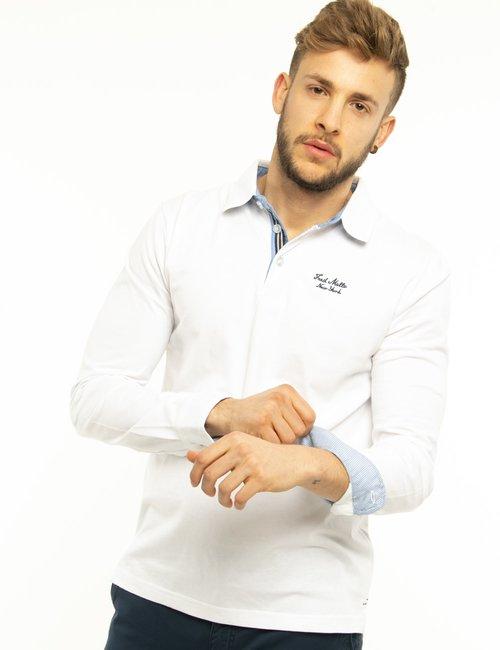 Maglia Fred Mello con logo ricamato - Bianco