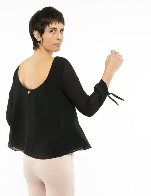 Camicia Fracomina con maniche velate - Nero