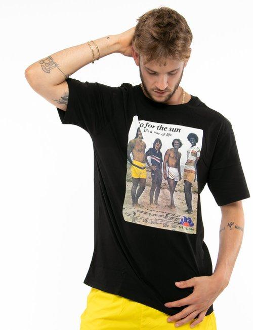 T-shirt Sundek con stampa - Nero