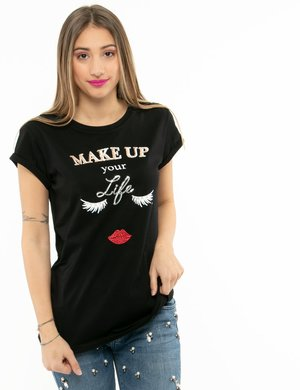T-shirt Maison Espin con maniche velate