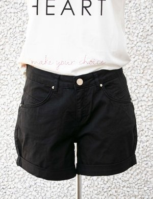 Shorts Yes Zee con risvolto