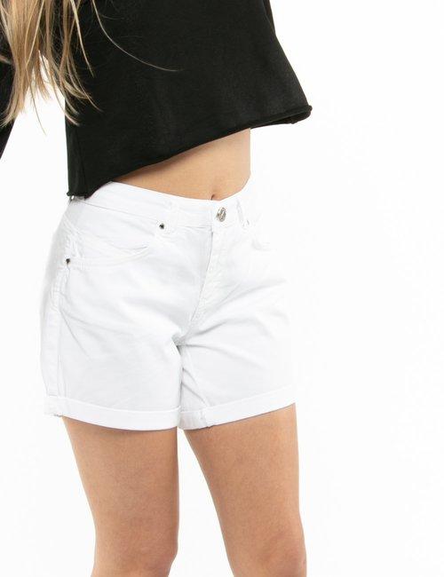 Shorts Maison Espin con risvolti - Bianco