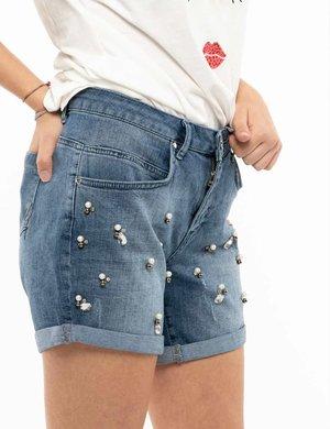Shorts Maison Espin con applicazioni