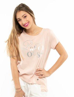 T-shirt Maison Espin con ricami e appplicazioni