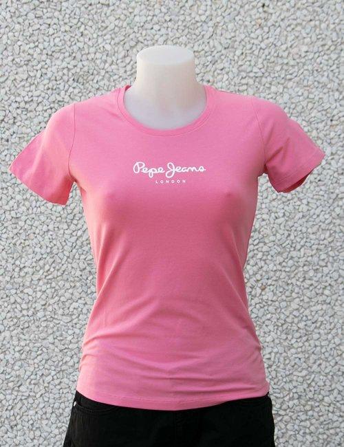 T-shirt Pepe Jeans con logo - Rosa