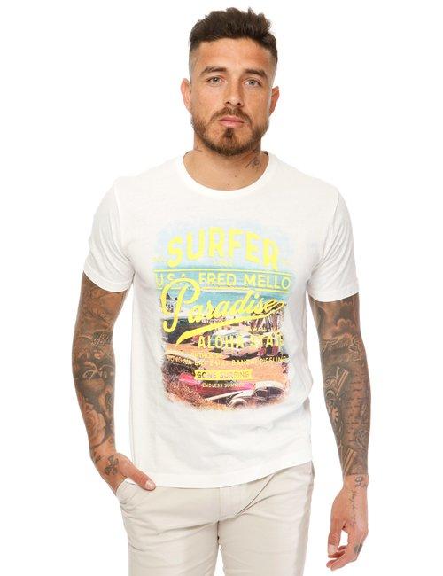 T-shirt Fred Mello stampata - Fantasia