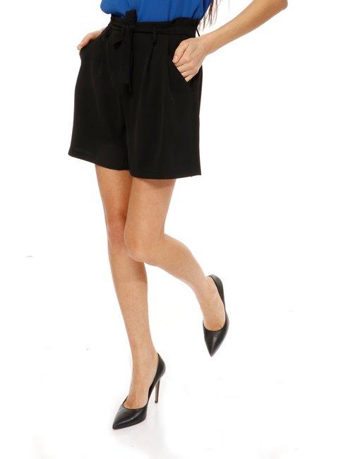 Shorts Vougue con cintura - Nero