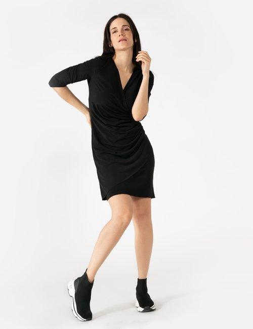 Vestito Vougue scollo incrociato - Nero