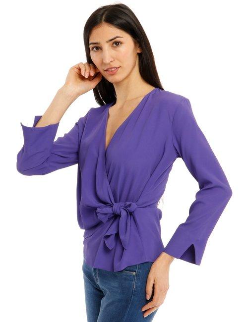 Camicia Beatrice B con nodo a lato - Viola