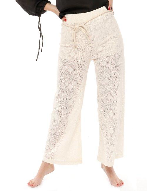 Pantalone Yes Zee traforato - Beige