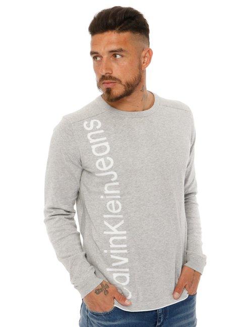 Maglione  Calvin Klein con logo - Grigio