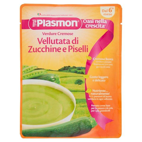 Plasmon Verdure Cremose Vellutata di Zucchine e Piselli 180 g