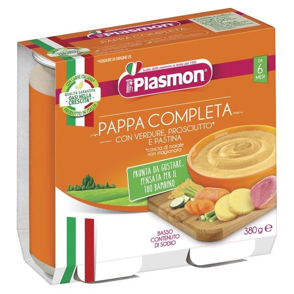 Plasmon Pappa completa verdure con prosciutto* e pastina 2 x 190 g