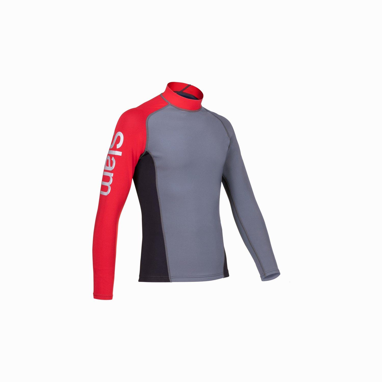 Gannet Top - Medium Grey / Black / Slam Red