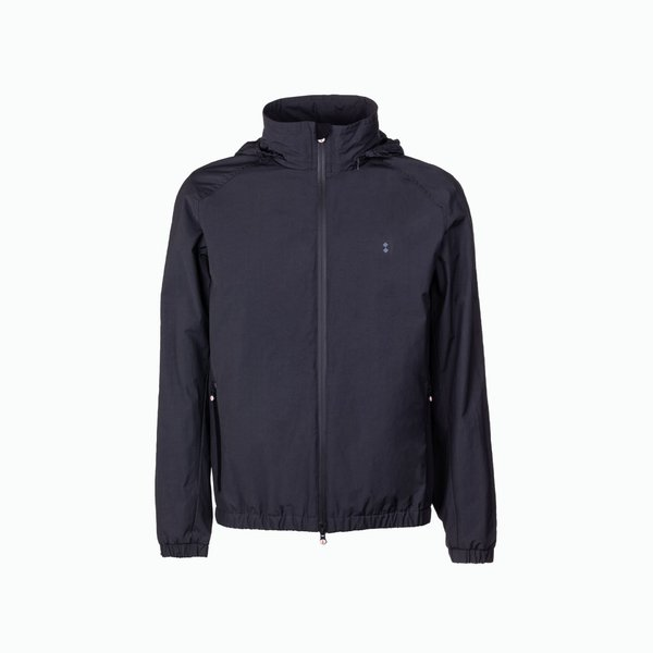 Draft jacket man with retractable hood