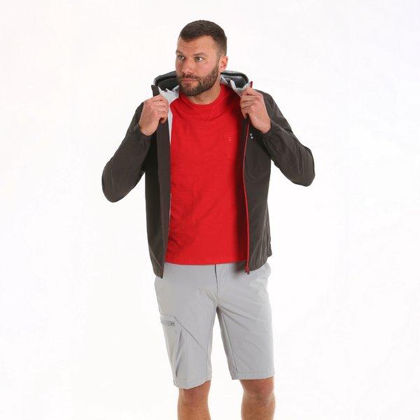 Chaqueta para hombre E01 impermeable y con capucha