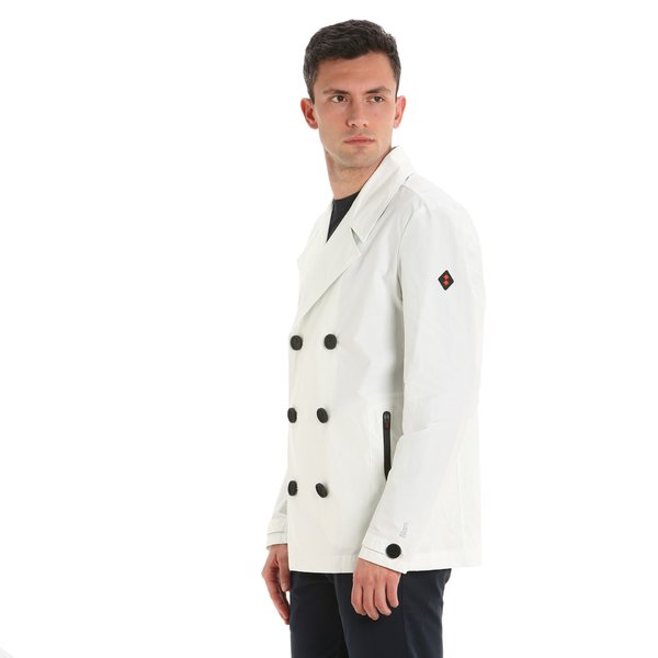 E15 double-breasted men's jacket with rubber buttons