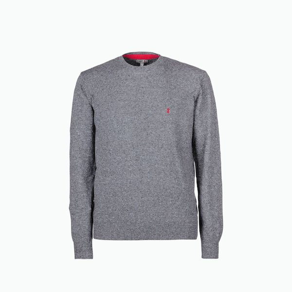 Suéter hombre de cuello redondo C205 mixto de lino