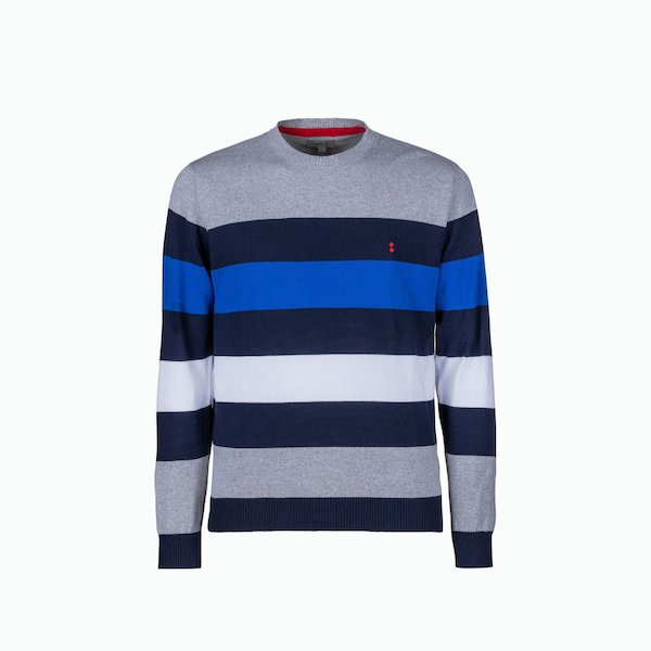 Men's sweater C208 with four-line motif