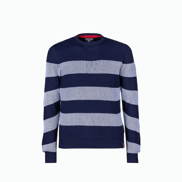C209 men's sweater in cotton with striped pattern