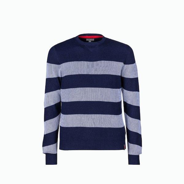 Suéter hombre C209 de algodón con diseño de rayas