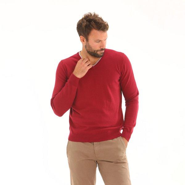 Maglione uomo F72 a V in cotone misto cashmere