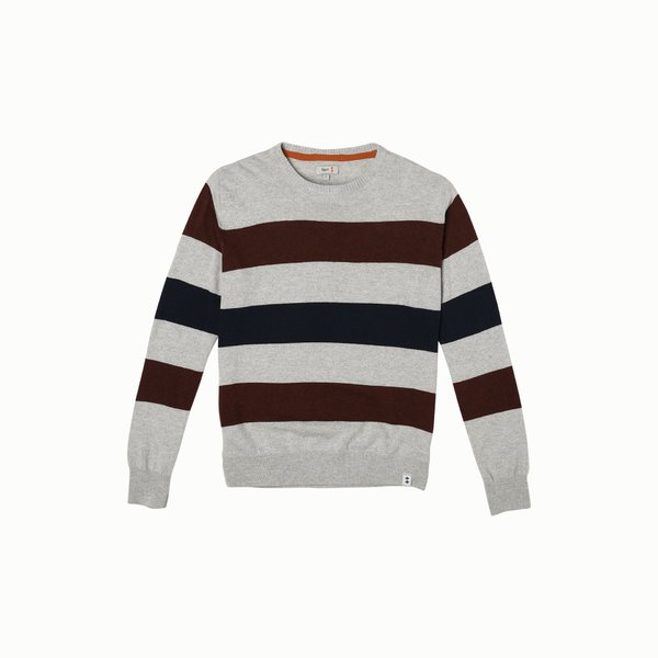 Cashmere blend crew-neck Men's jumper F71 with stripes