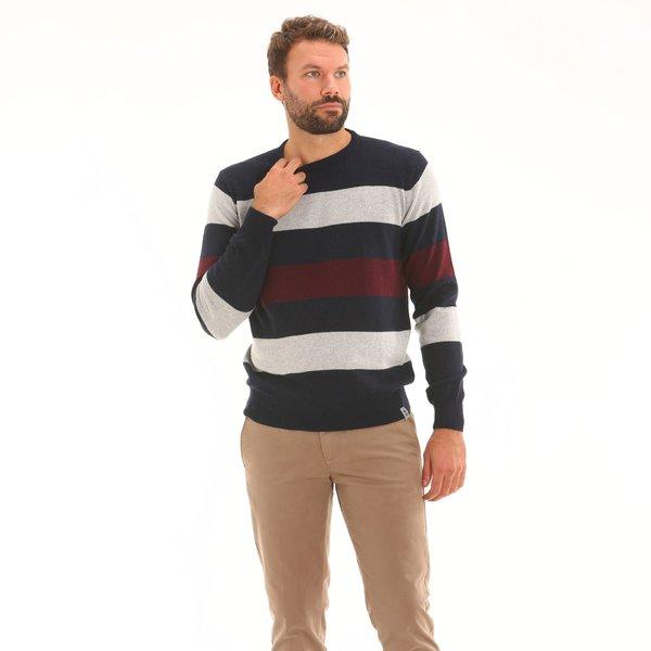 Herrenpullover F71 aus Kaschmirmischwolle