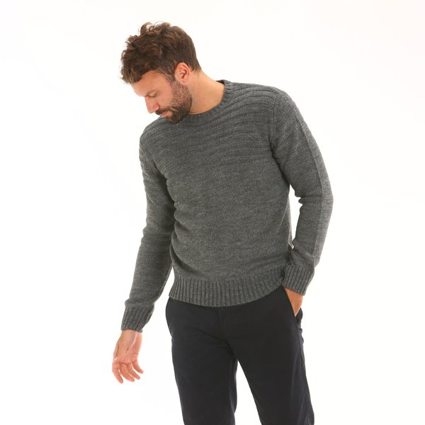 Men jumper F58 in alpaca blend