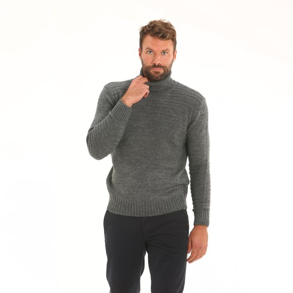 Men jumper F56 in alpaca blend