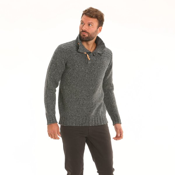 Men jumper F61 in wool tweed