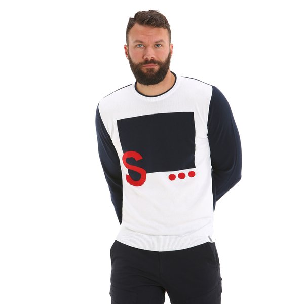 G36 men's crewneck cotton jumper