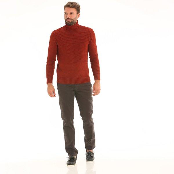 Pantalone uomo B3 chino in twill di cotone elasticizzato