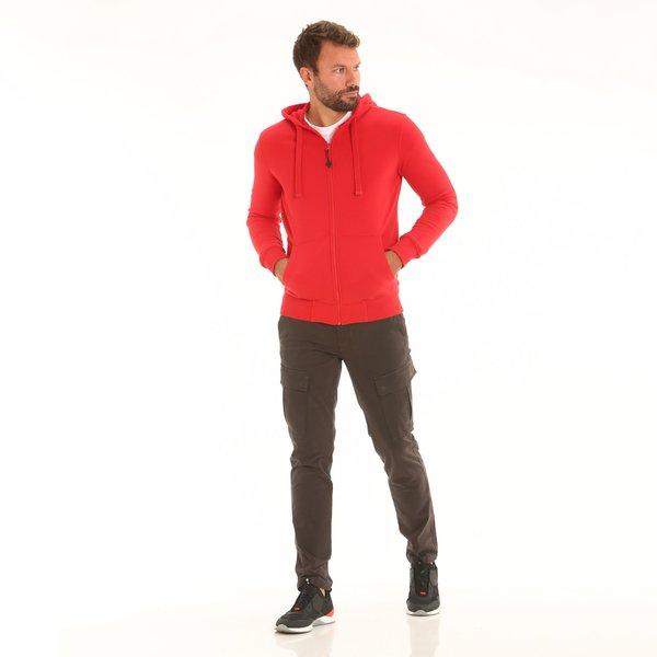 Pantalone uomo B70 cargo in twill di cotone elasticizzato