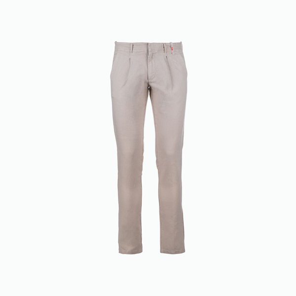Pantalone uomo C57 in misto Lino vestibilità aderente