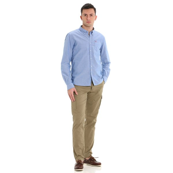 Pantalón C254 para hombre de ajuste entallado en algodón