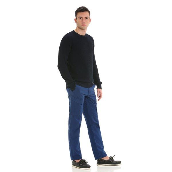 Pantalone uomo E148 cargo in stretch popeline di cotone