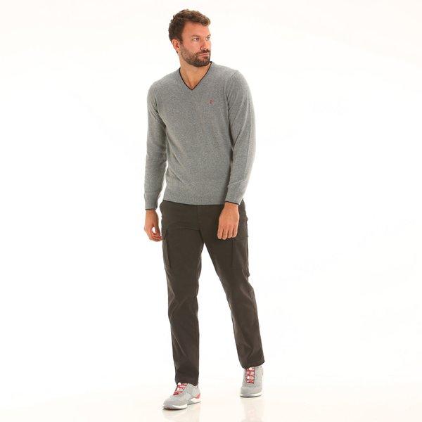 Pantalone cargo da uomo F164 in cotone elasticizzato