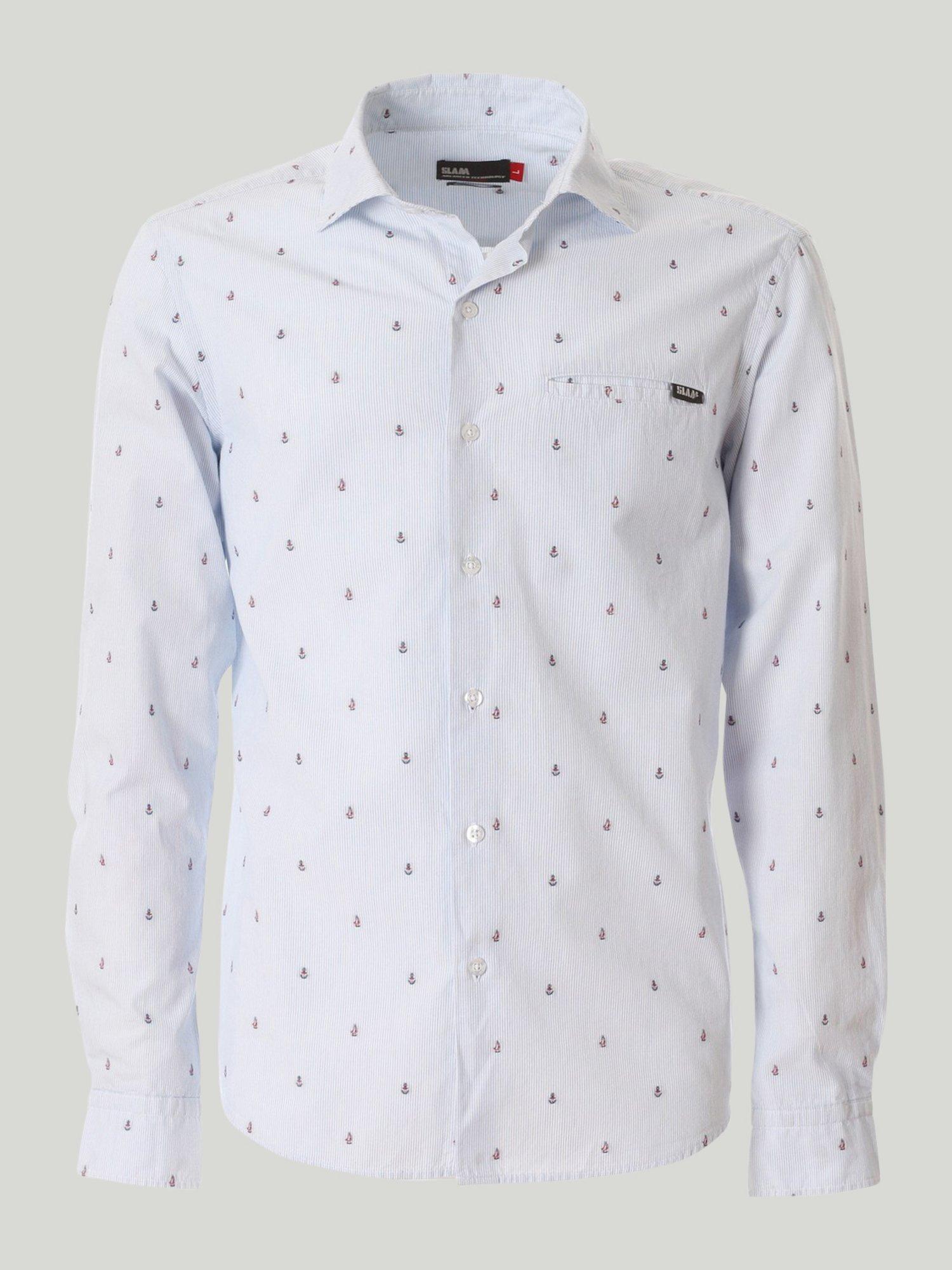 Eretria shirt - Striped White / Light Blue