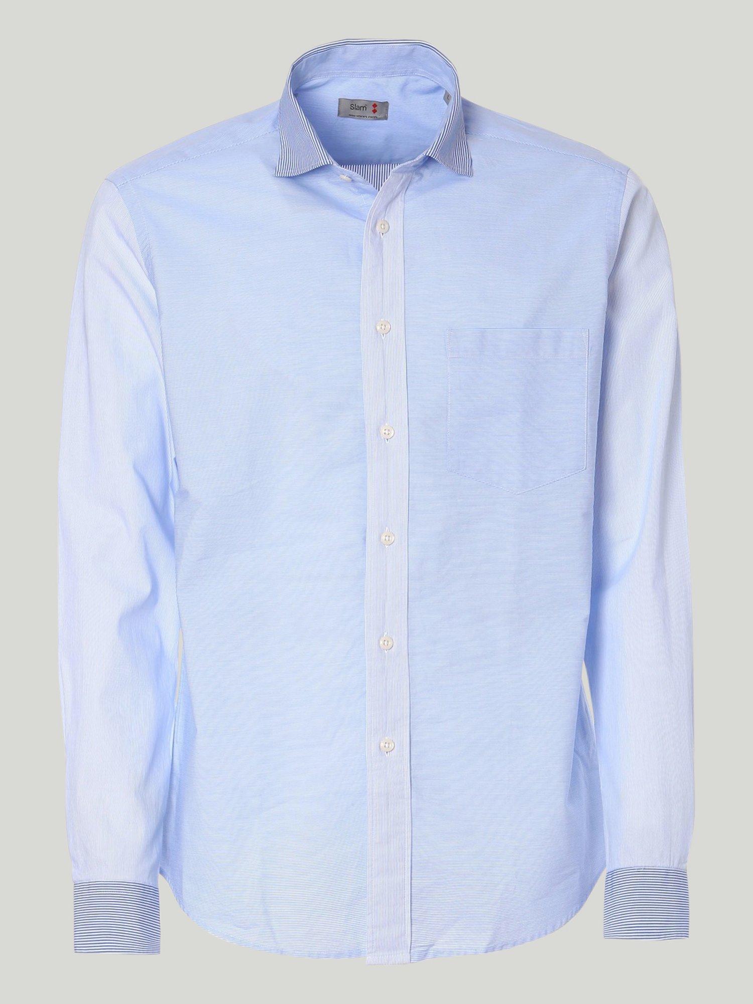 Eso shirt - Striped White / Light Blue