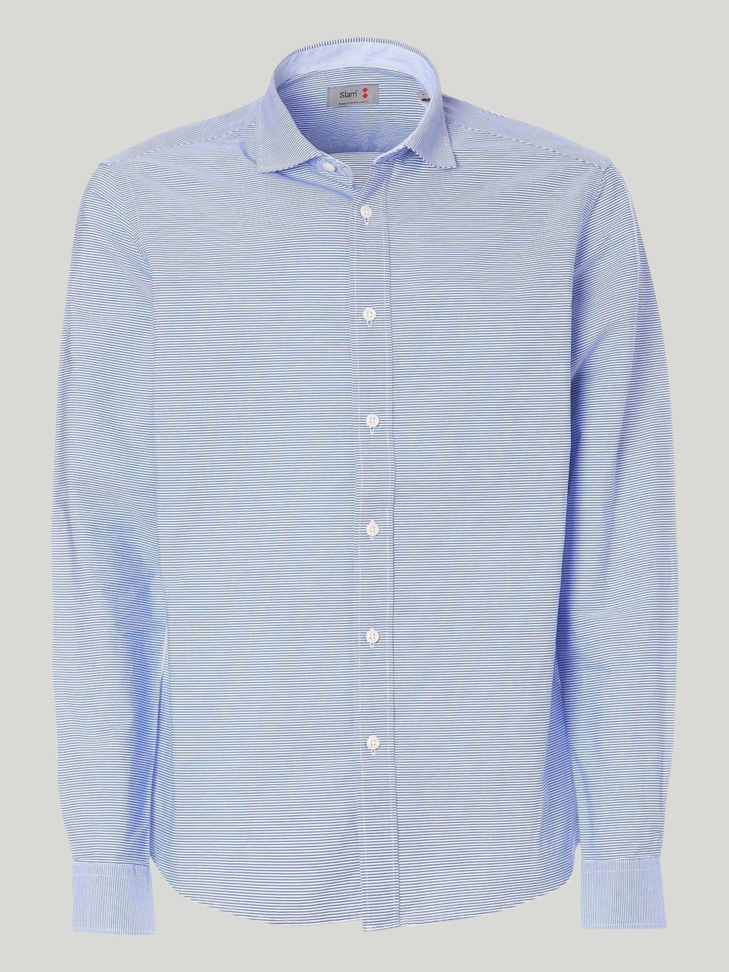 Keros shirt - Striped White / Light Blue