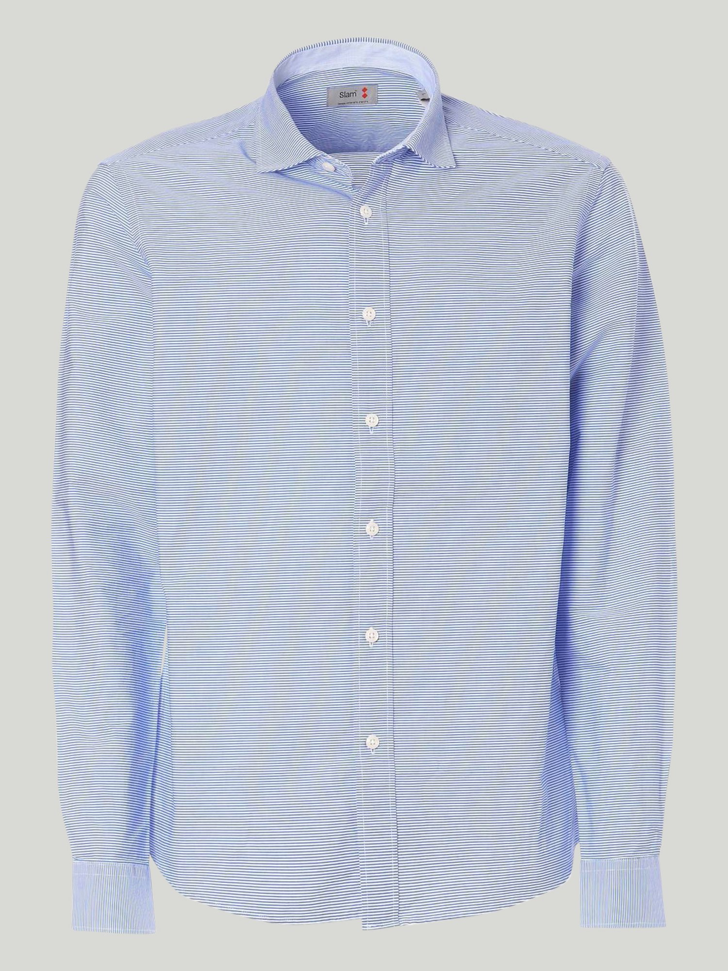 Keros shirt - Striped White / Light Blue